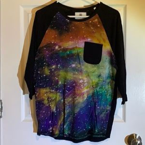 On the Byas galaxy print pocket tee